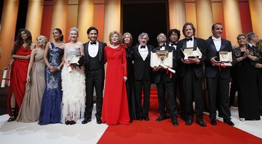 Cannes-2011 - a zsűri és a díjazottak (Fotó: Reuters)