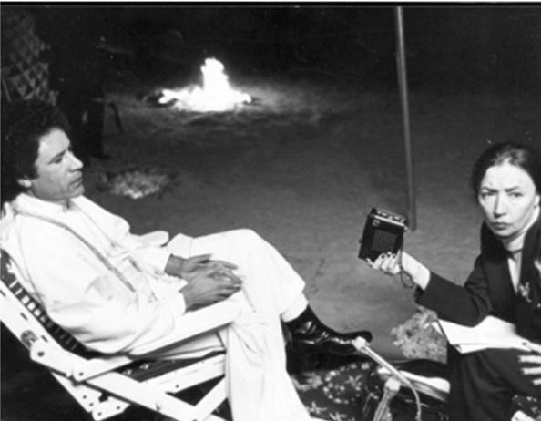 Fallaci interjút készít Kadhafival - 1979 (forrás: tuttoitalia.hu)
