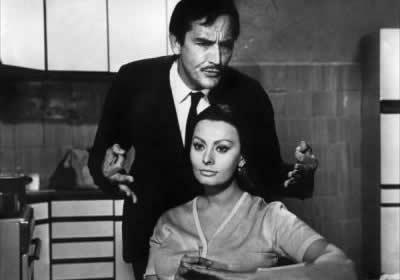 Vittorio Gassmann és Sofia Loren