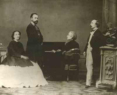 Cosima Liszt, Hans von Bülow és Festetics Leó gróf Liszt Ferenccel