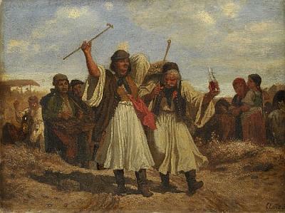 Lotz Károly: Mulatozó parasztok