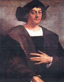 Kolumbusz Kristóf arcképe. Sebastiano del Piombo festménye (1529-1531)