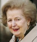 Az idős Margaret Thatcher