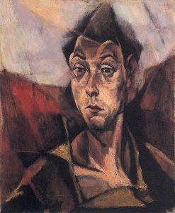 Tihanyi Lajos: Önarckép (1912)