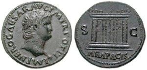 As - fizetőeszköz Nero arcképével