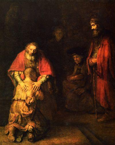 Rembrandt: A tékozló fiú hazatérése (1662 körül)