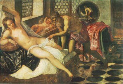 Tintoretto: Vulcanus rajtakapja Marsot és Vénuszt