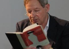 Nádas Péter 2011 májusában a budapesti Goethe Intézetben (Fotó: Fekete Dávid/Goethe-Institut Budapest)