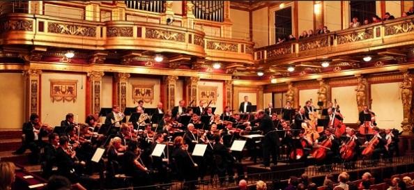 A Bruno Walter zenekar a bécsi Musikverein nagytermében