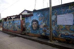 Grafitti kubai módra