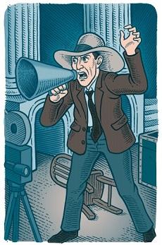 D. W. Griffith (Marco Zucca rajza)