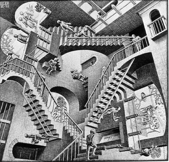 Escher: Relativitás (1955)