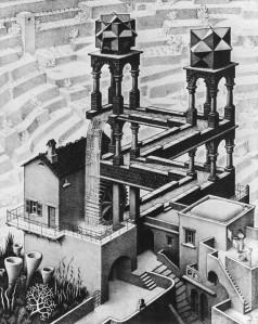 Escher: Vízesés (1961)