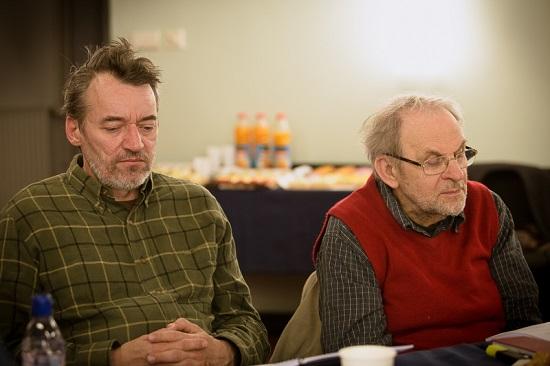 Tamási Zoltán és Fodor Tamás az olvasópróbán