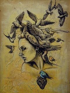 Az egyik olasz kiadás illusztrációja (Michela Boccalini grafikája)