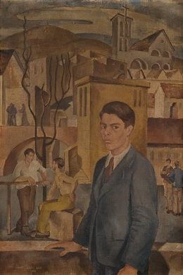 Király Lajos: Önarckép Pécsett (Diákélet) (1938)