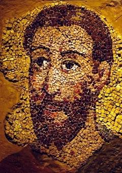 Szent Pál ábrázolása ókori mozaikon