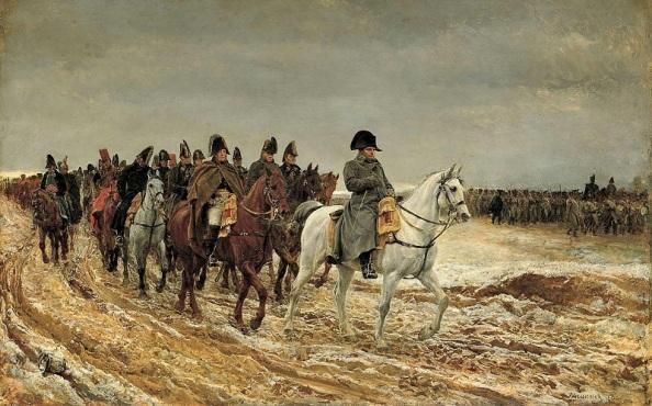 Meissonier: A franciaországi hadjárat - a dicső múlt (Rákattintva nagy méretben jelenik meg)