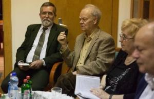 Csepeli Miklós, Csepeli György, Bruckner Éva a könyv bemutatóján