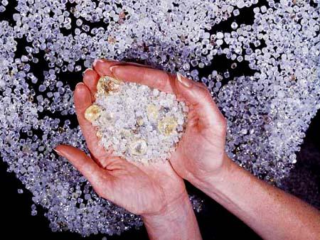 Nyers gyémánt, osztályozás előtt