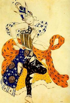 Léon Bakst vázlata a Péri jelmezéhez (1911)