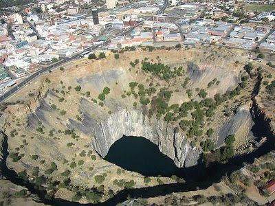 A névadó Kimberly (Dél-Afrika) Big Hole – ma már felhagytak a bánya művelésével
