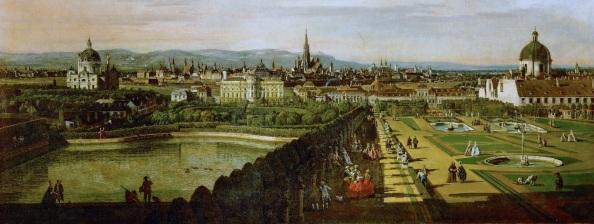 A Belvedere Canaletto  (1758) festményén (Kattints a képre!)