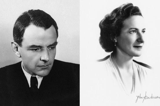 Szegedy-Maszák Aladár és Kornfeld Hanna a II. világháború után (Marianne Szegedy-Maszák szívességéből)