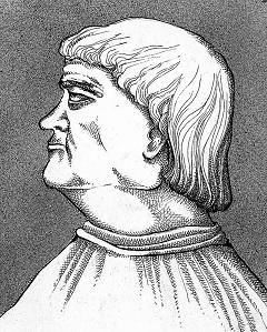 Bakócz Tamás (1442–1521) érsek (Muhi Sándor grafikája)