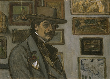 Rippl-Rónai: Önarckép barna kalapban (1897)