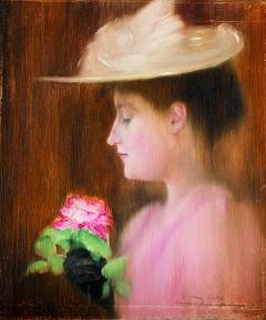 Rippl-Rónai József: Patakiné portréja (1892)