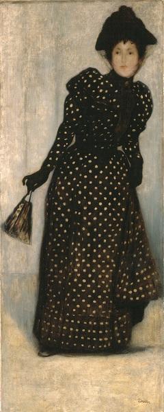 Rippl-Rónai: Pöttyös ruhás nő (1892)