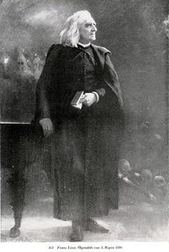Liszt Ferenc (korabeli levelezőlapon)