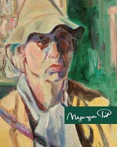 A kalapos önarckép (részlete) Feledy Balázs kötetének címlapján