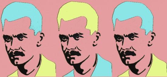 József Attila (Andy Warhol stílusában)