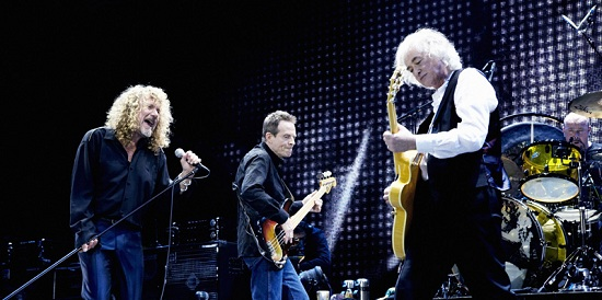 Led Zeppelin on Concert (Photo by Kevin Westenberg)