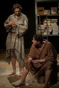 Két nagy komédiás:  Domokos Zsolt (Achilles), Borsányi Dániel (Pyramus)