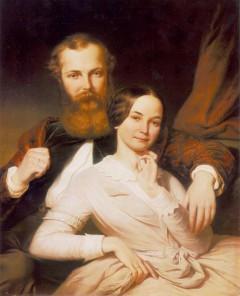 Weber_henrik-Mosonyi Mihály és felesége (Weber Henrik festménye, 1840 körül)