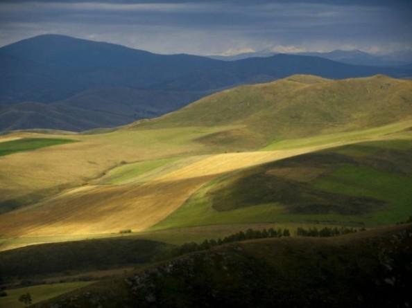 Ősz Kazahsztán hegyei között