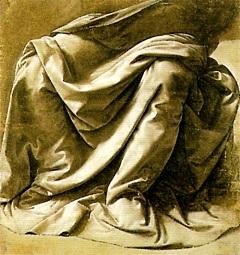 Leonardo: Studio di drappeggio...