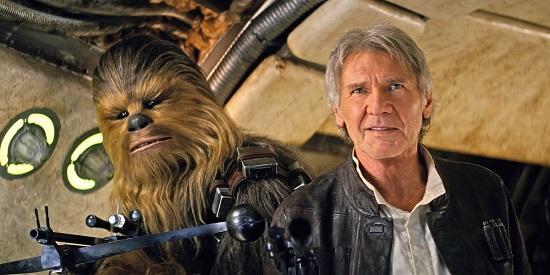 Chewbakka és Han Solo (Harrison Ford)