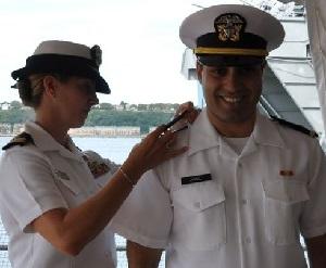 Naveed Jamali immár a haditengerészet kötelékében