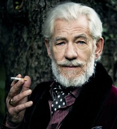 Sir Ian McKellen mint Holmes, a 2015-ös filmváltozatban