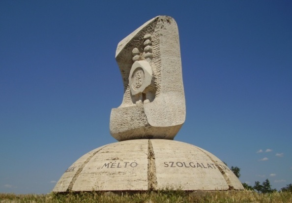 Aranybulla-emlékmű, Székesfehérvár (1990)