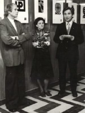 Kismányoky Károly, Deák Zsuzsa és Békés Sándor egy kiállításmegnyitón