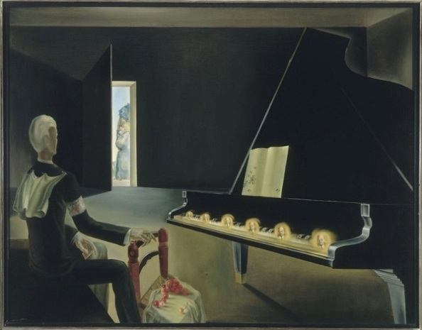 Salvador Dalí: Részleges hallucináció: hat Lenin-kép egy zongorán (1931)