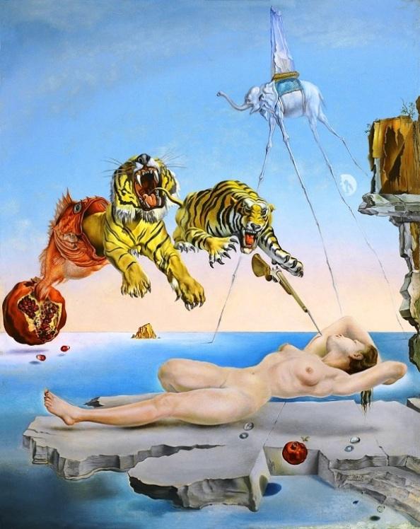 Salvador Dalí: Álom, melyet a gránátalma körül