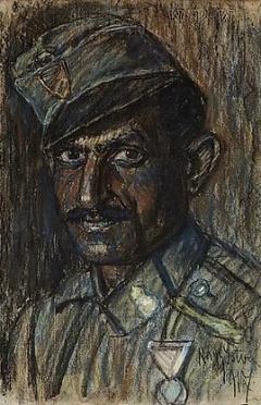 Cigány katona kitüntetéssel, 1917