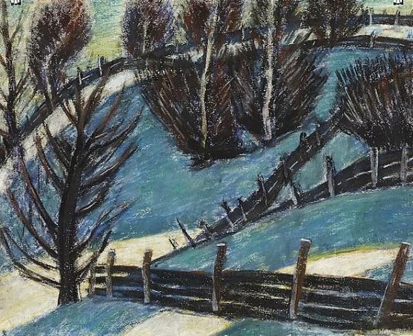 Téli táj (Palánkok), 1927 körül