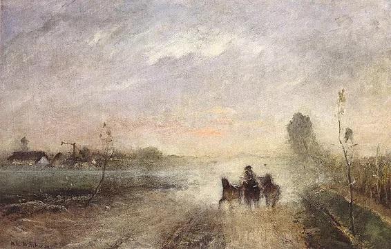 Munkácsy Mihály: Poros út I., (1874)